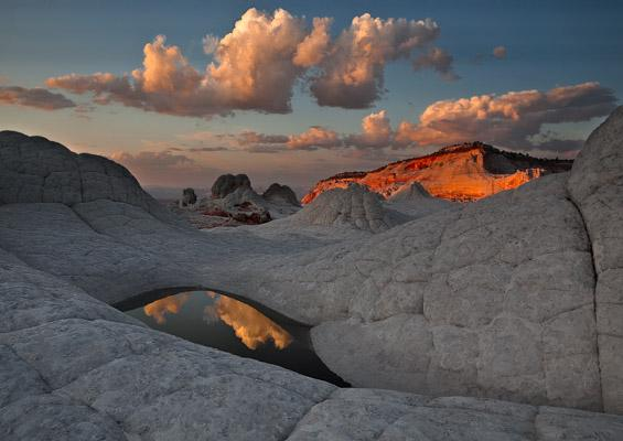 A water pool at The White Pocket in Vermilion Cliffs NM, Arizona