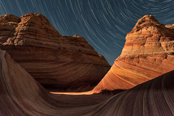 The Wave at Night, Coyote Buttes North, Arizona