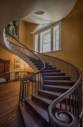 Nathaniel Russell House, spiral staircase, Charleston, South Carolina,