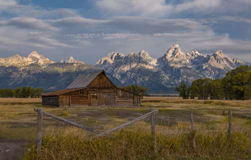Mormon Row old barn in Grand Teton National Park