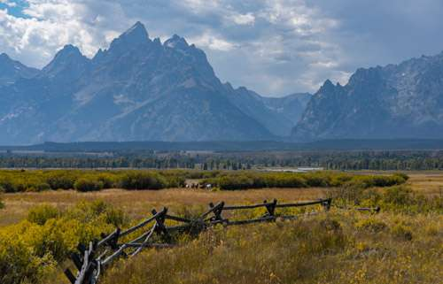 The Cathedral Range in Grand Teton National Park