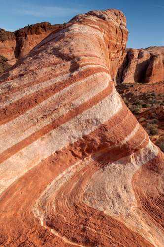 The Fire Wave in Valley of Fire, Nevada