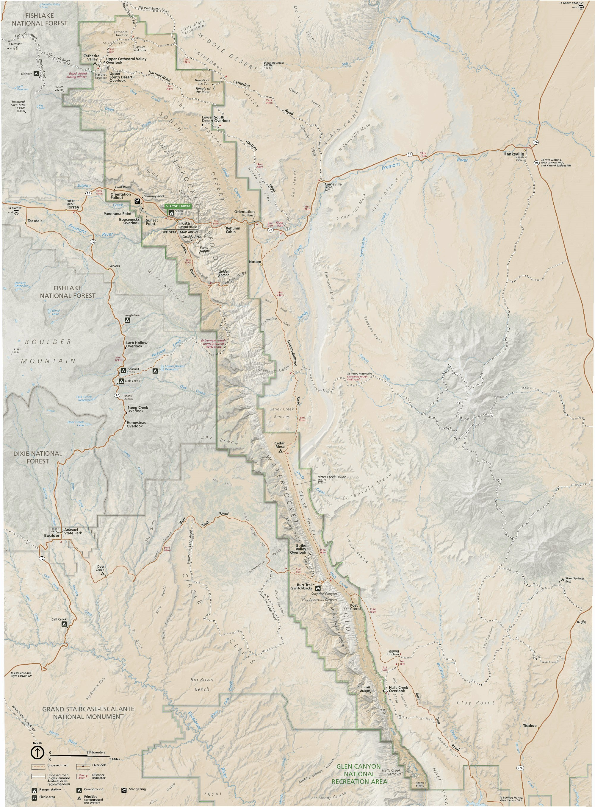 Capitol Reef National Park Service Map