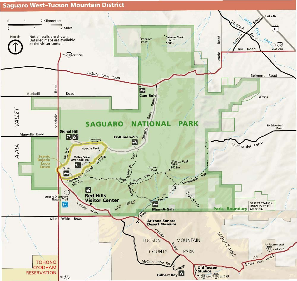 Saguaro Park Service West Map