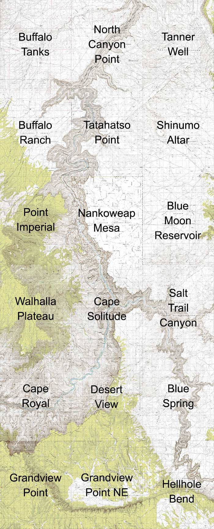 Grand Canyon East Topo Maps